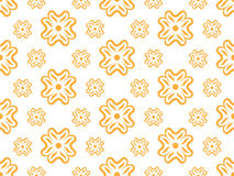 Vector seamless wallpaper with floral pattern. In orange Royalty Free Stock Photo