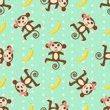 Vector seamless Wallpaper with the monkey. Vector seamless Wallpaper with the monkey eps 10 royalty free illustration