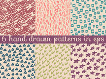Vector seamless wallpaper pattern background. Hand drawn  Royalty Free Stock Images