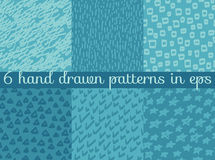 Vector seamless wallpaper pattern background set. Stock Photography