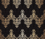 Vector seamless wallpaper pattern. Vector seamless damask wallpaper background Royalty Free Stock Photography