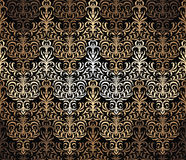 Vector seamless wallpaper pattern. Vector seamless damask wallpaper background Stock Image