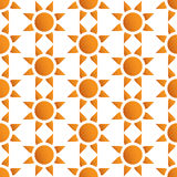 Vector seamless wallpaper with suns Royalty Free Stock Photography