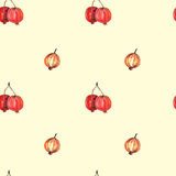 Vector seamless watercolor berries pattern Stock Photography