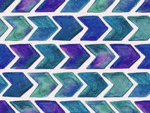 Vector Seamless Watercolor   Pattern with Arrows Stock Photos