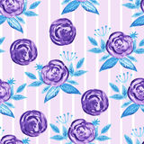 Vector Seamless Watercolor Pattern Royalty Free Stock Photo