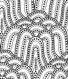 Vector seamless wave background of doodle drawn lines Stock Photo