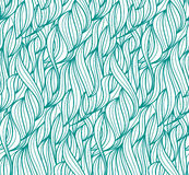 Vector seamless wave background of plants drawn lines. Abstract vector seamless wave background of plants drawn lines Stock Image