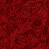 Vector seamless wave doodle hand drawn pattern in red colors. Ca Stock Photography