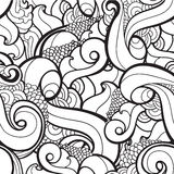 Vector seamless wavy abstract pattern Royalty Free Stock Photos