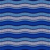 Vector Seamless Wavy Blue Pattern Stock Photos
