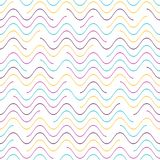 Vector seamless wavy line pattern Royalty Free Stock Photo