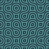 Vector Seamless Wavy Lines Irregular Retro Grungy Navy Blue Grunge Pattern Stock Images