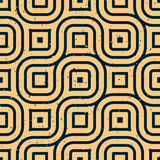 Vector Seamless Wavy Lines Irregular Retro Grungy Pattern Royalty Free Stock Photo