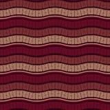 Vector Seamless Wavy Marsala Pattern Royalty Free Stock Images