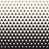 Vector Seamless White to Black Transition Triangle Halftone Gradient Pattern Royalty Free Stock Photography