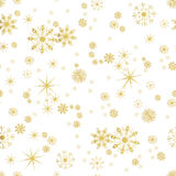 Vector Seamless Winter Pattern Background of Snowflakes Royalty Free Stock Photography