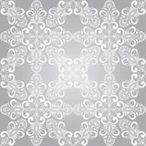 Vector Seamless Winter Pattern with Snowflakes Stock Images
