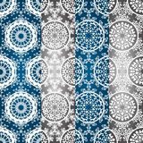 Vector Seamless Winter Patterns. With Snowflakes Stock Illustration