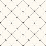 Vector seamless winter retro pattern Stock Photo