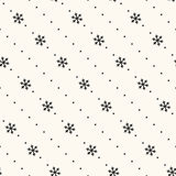 Vector seamless winter retro pattern Stock Image