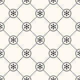 Vector seamless winter retro pattern Stock Photography