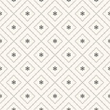 Vector seamless winter retro pattern Royalty Free Stock Image