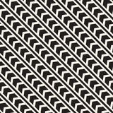 Vector seamless zigzag line pattern. Abstract geometric background. Repeating monochrome lattice background Stock Photos
