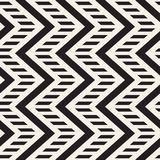 Vector seamless zigzag line pattern. Abstract stylish geometric background. Repeating lattice background vector illustration