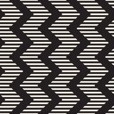 Vector seamless zigzag line pattern. Abstract stylish geometric background. Repeating lattice background royalty free illustration