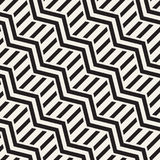 Vector seamless zigzag line pattern. Abstract stylish geometric background. Repeating lattice background Royalty Free Stock Photo