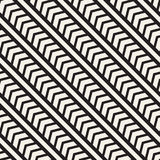 Vector seamless zigzag line pattern. Abstract geometric background. Repeating monochrome lattice background Stock Photo