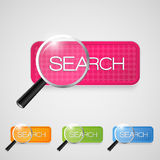 Vector search button set Royalty Free Stock Photography