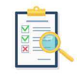 Vector Search the Document Icon. Stock Photography