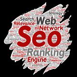 Vector search results engine optimization top rank Stock Photo