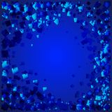 Vector seascape made of blue rhombuses on a blue background. For paper or decoration of the sea or sky Royalty Free Illustration