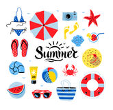 Vector seaside top view illustrations Royalty Free Stock Images