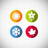 Vector season icons Royalty Free Stock Images