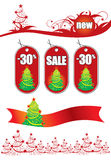 Vector seasonal design elements for advertising. Red Royalty Free Stock Images