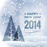 Vector seasonal winter greeting Royalty Free Stock Photography