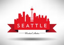 Vector Seattle Skyline Design vector illustration