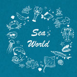 Vector seaworld background Royalty Free Stock Photography