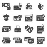 Vector Secure payment icons set. On white background Stock Image