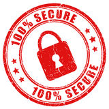 Vector secure stamp. Isolated on white Stock Photo