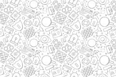 Vector Security pattern. Security seamless background stock illustration