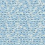 Vector Seehintergrund mit blauen Wellen und bürsten Sie Anschläge der Farbe Stockbild
