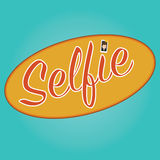 Vector of selfie background icon Stock Image