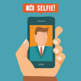 Vector selfie concept Royalty Free Stock Photo