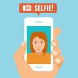 Vector selfie concept Stock Photo