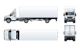 Vector semi truck template isolated on white Royalty Free Stock Photography